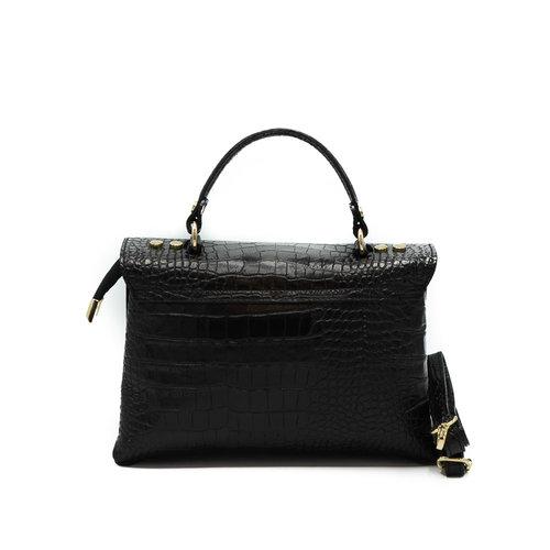 Giselle - Croco - Handtassen - Zwart -