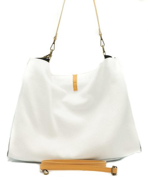 Brooklyn - Classic Grain - Shoulder bags - White - Duo
