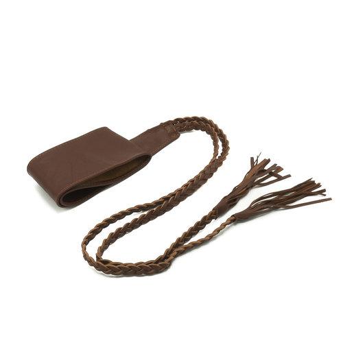 Nora - - Wikkelriemen - Bruin - Chocolade -