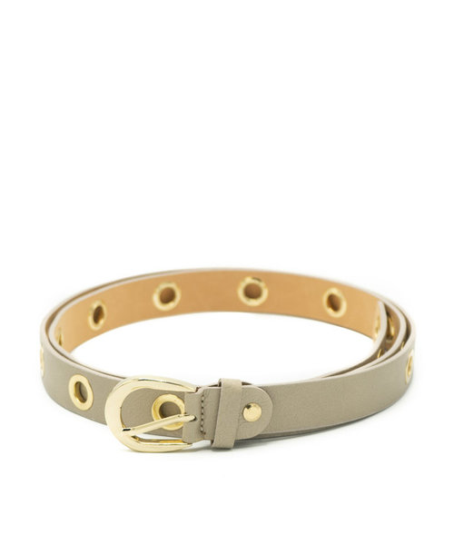 Avery - Sauvage - Belts with buckles - Taupe - - Gold