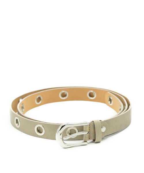 Avery - Sauvage - Belts with buckles - Taupe - - Silver