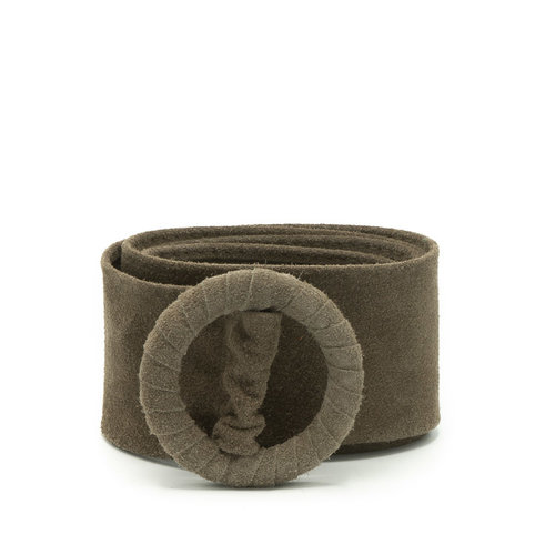 Vera - Suede - Belts with buckles - Taupe - 24 -