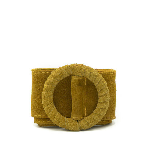 Vera - Suede - Belts with buckles - Yellow - 51 -