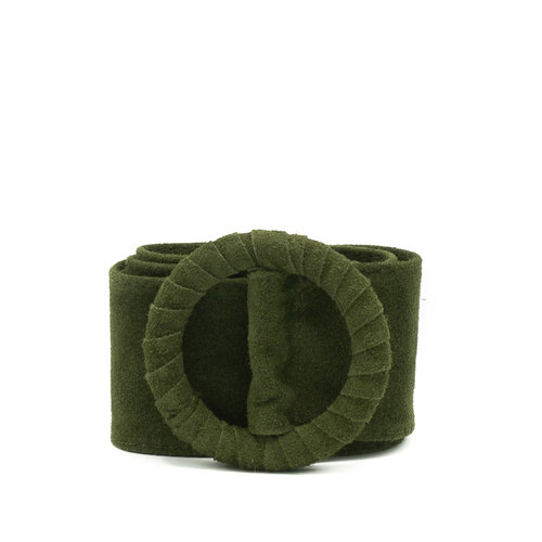 Vera - Suede - Belts with buckles - Green - 29 -