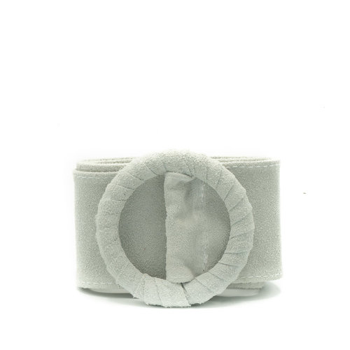 Vera - Suede - Belts with buckles - White - 1 -