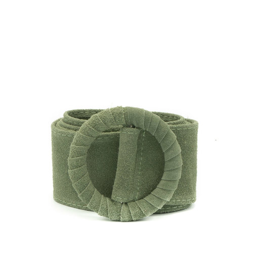 Vera - Suede - Belts with buckles - Green - 53 -