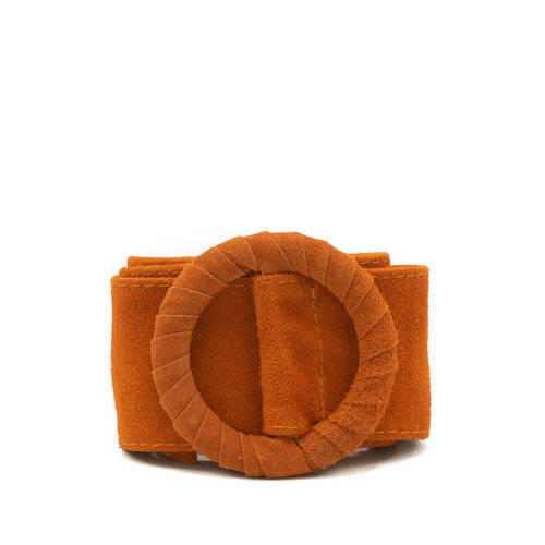 Vera - Suede - Belts with buckles - Orange - 13 -