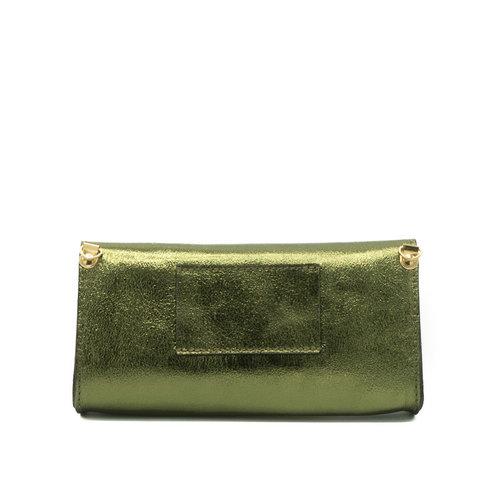 Claudia - Metallic - Bum bags - Green - Army - Gold