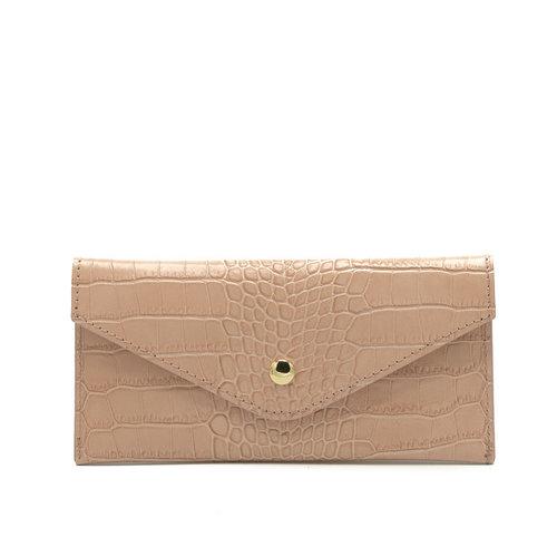 Lois - Croco - Wallets - Pink - Salmon - Gold