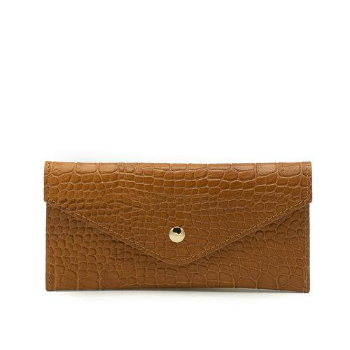 Lois - Croco - Wallets - Brown - - Gold