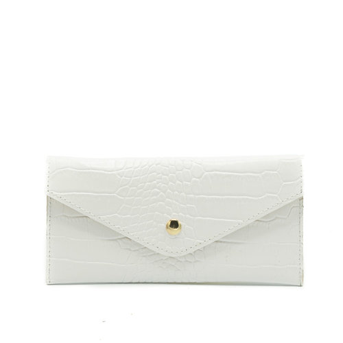 Lois - Croco - Wallets - White - - Gold