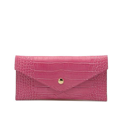 Lois - Croco - Wallets - Pink - Fuchsia - Gold