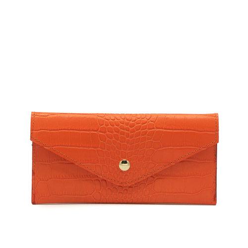 Lois - Croco - Portemonnees - Oranje - - Goudkleurig