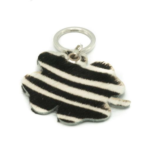 Tiffany - Hair - Keychain holders - - Zebra - Silver