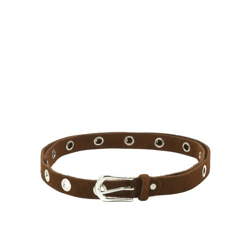 Avery - Suede - Belts with buckles - Brown - 37 - Silver