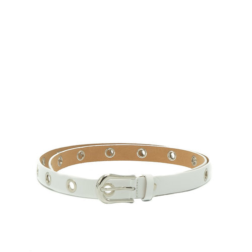 Avery - Sauvage - Belts with buckles - White - - Silver