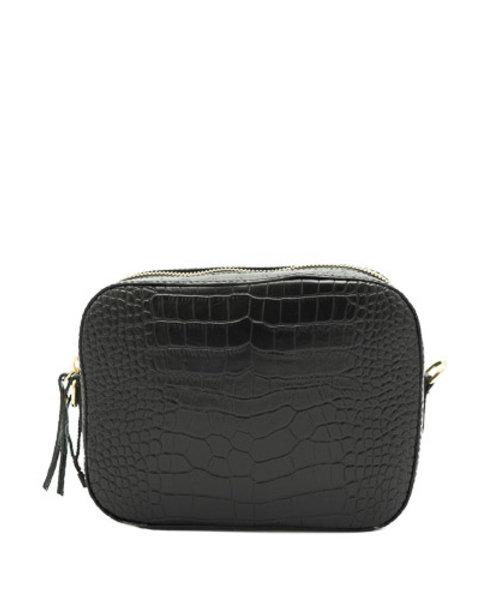 Nieuw Olivia - Croco - Crossbodytassen - Zwart - - Goudkleurig