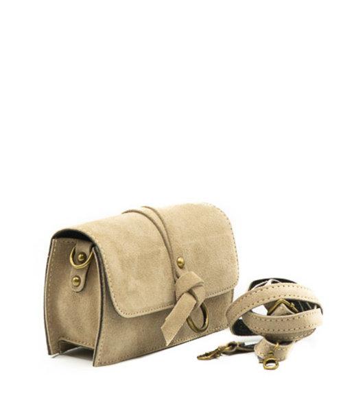 Nieuw Chrissy - Suede - Crossbody bags - Beige - 4 - Bronze