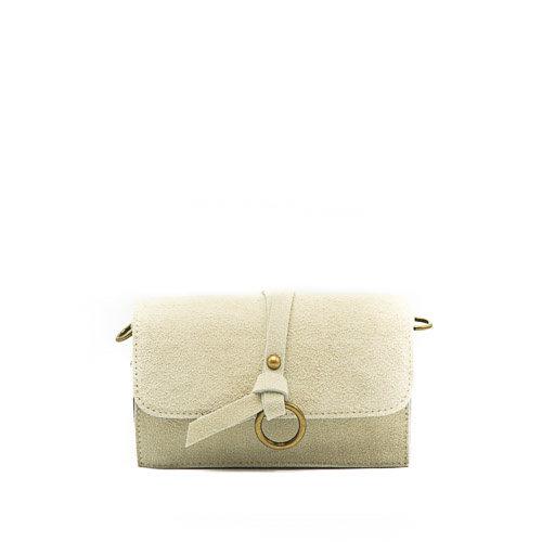 Nieuw Chrissy - Suede - Crossbody bags - White - 2 - Bronze