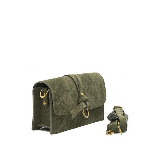 Nieuw Chrissy - Suede - Crossbody bags - Green - 49 - Bronze
