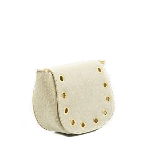 Christine - Classic Grain - Crossbody bags - White - 2 - Gold