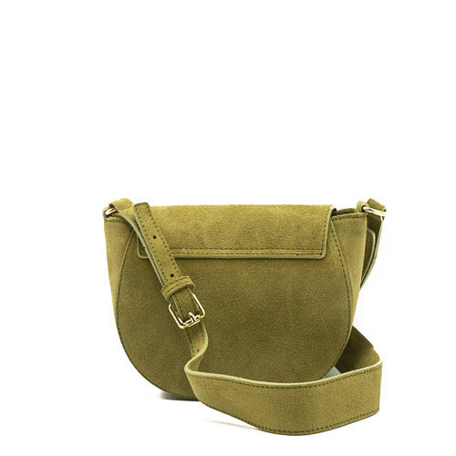 Christine - Suede - Crossbody bags - Green - 29 - Gold