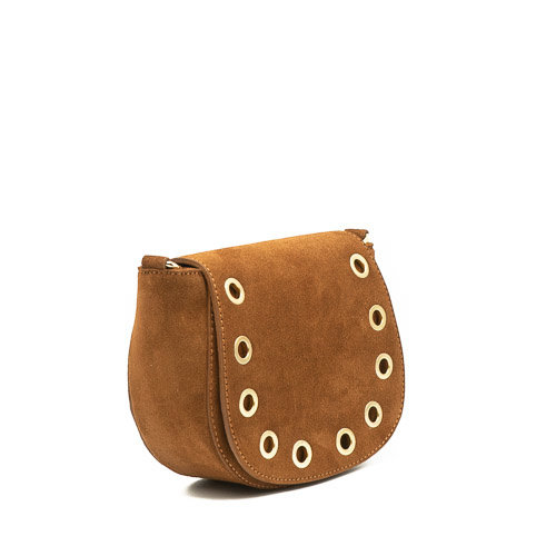 Christine - Suede - Crossbody bags - Brown - 37 - Gold