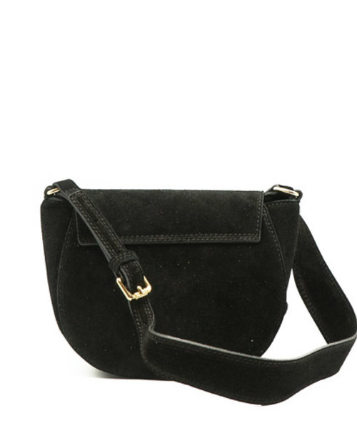 Christine - Suede - Crossbody bags - Black - 23 - Gold