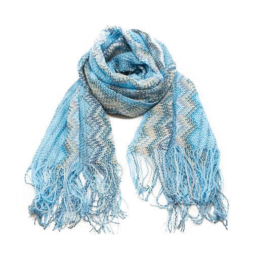 Misti - - Sjaals met print - Blauw - -