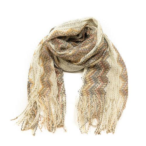 Misti - - Sjaals met print - Bruin - -