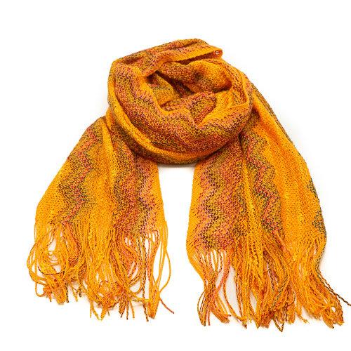 Misti - - Sjaals met print - Geel - -