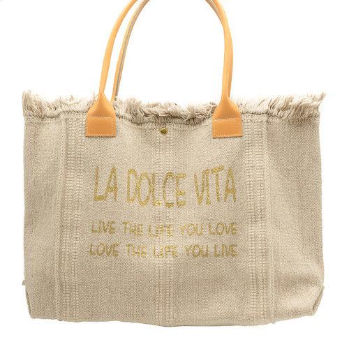 Summer - Canvas - Shoulder bags - Beige - Sand -