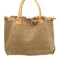 Summer - Canvas - Shoulder bags - Taupe - -