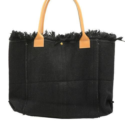 Summer - Canvas - Shoulder bags - Black - -