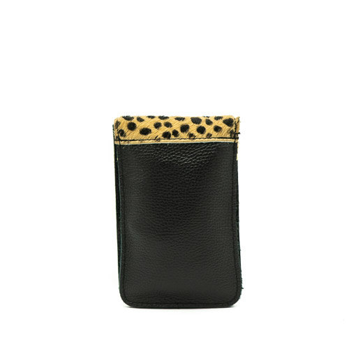 Pona - Vacht - Crossbodytassen - Zwart - Cheetah - Goudkleurig