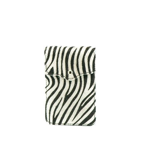 Pona - Vacht - Crossbodytassen - Zwart - Zebra - Goudkleurig
