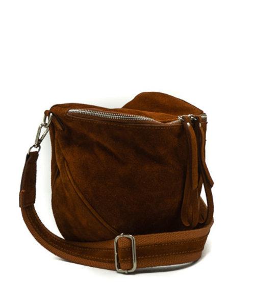Romsa - Suede - Crossbody bags - Brown - 37 - Silver