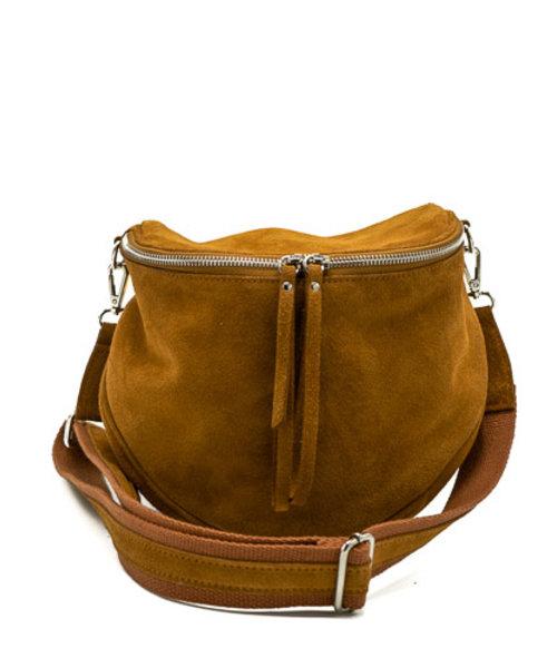 Romsa - Suede - Crossbody bags - Brown - 6 - Silver