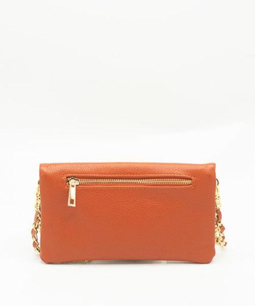 Volly - Classic Grain - Crossbody bags - Brick - D61 - Gold