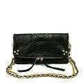 Volly - Snake - Crossbody bags - Black - 23 - Gold