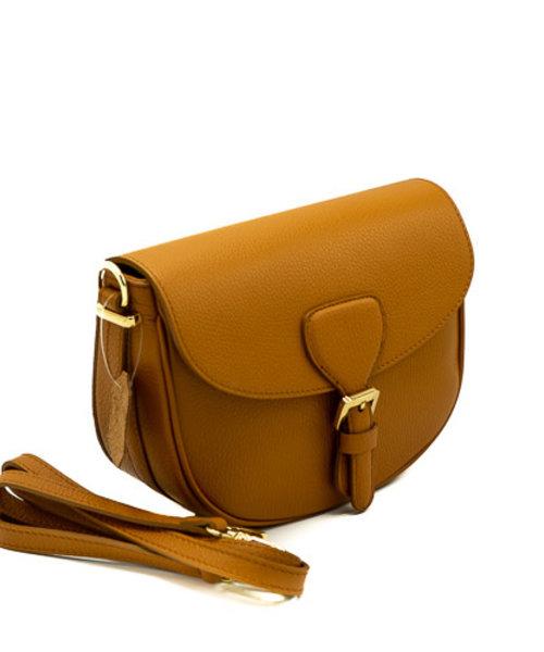 Bobbie - Classic Grain - Crossbody bags - Brown - D45 - Gold