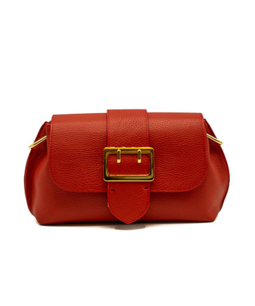 Charlie - Classic Grain - Crossbody bags - Red - D61 - Gold