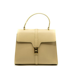 Clary - White - Calf leather - Gold