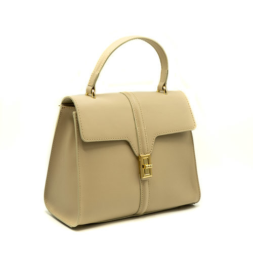 Clary - Calf leather - Hand bags - White - Ecru - Gold
