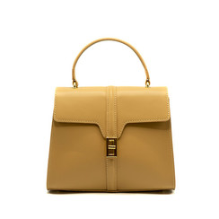 Clary - Beige - Calf leather - Gold
