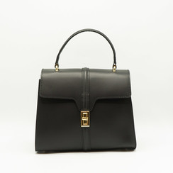 Clary - Black - Calf leather - Gold
