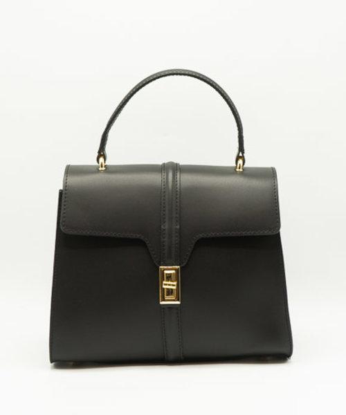 Clary - Kalfsleer - Handtassen - Zwart - - Goudkleurig
