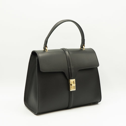 Clary - Calf leather - Hand bags - Black - - Gold