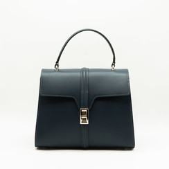 Clary - Blue - Calf leather - Gold