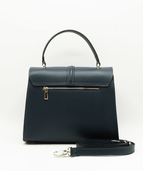 Clary - Calf leather - Hand bags - Blue - - Gold